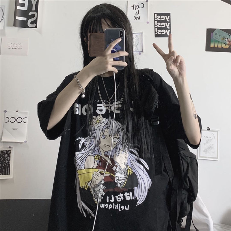 Dark anime girl short sleeve T-shirt DB5681