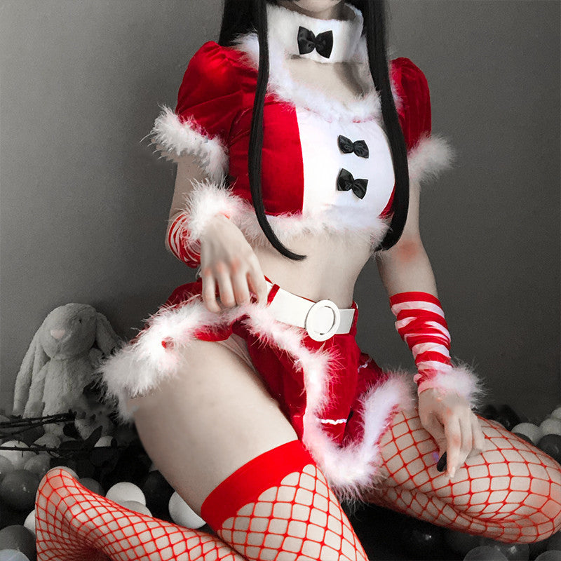Sexy Christmas uniform red and white suit DB4969