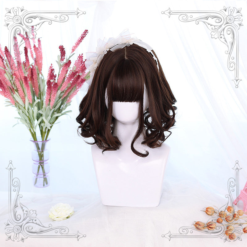 Lolita natural color curly hair wig DB4722