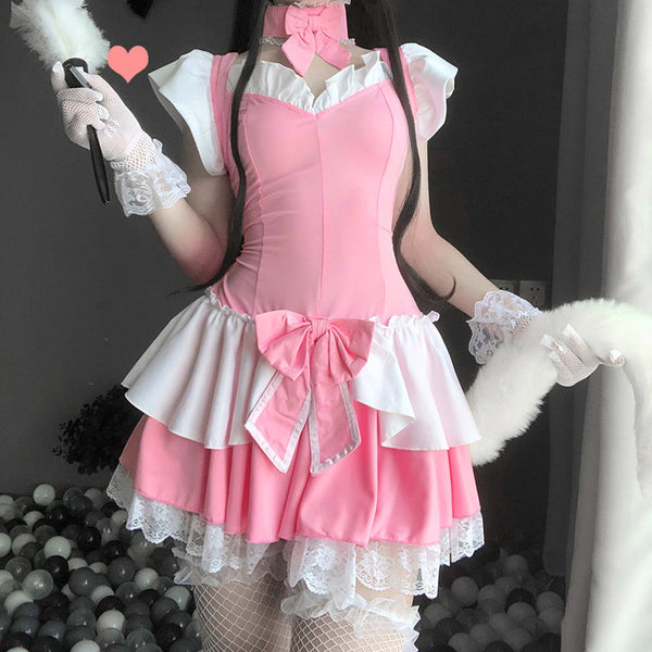 cos pink maid suit DB6124