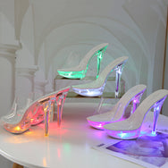 All-match luminous 13cm high heels DB5737