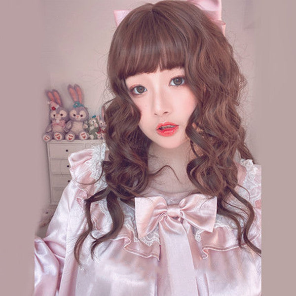 Lolita chocolate long curly hair wig DB5884