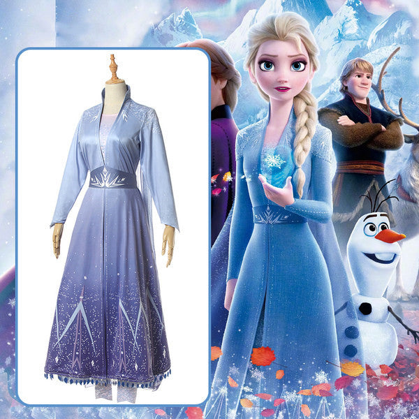 Frozen Elsa cos princess dress   DB5508