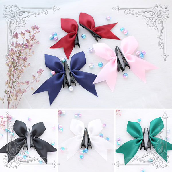 Lolita rabbit ear hair clip DB4723
