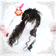 Lolita natural color long curly hair wig DB5797