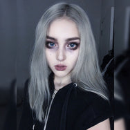 Silver gray clavicle wig DB4101