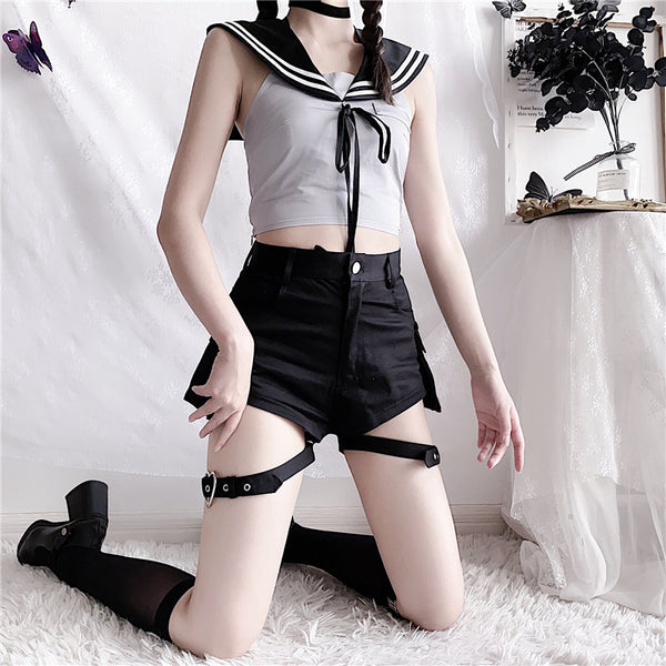 Dark sailor suit use + pants suit DB6061