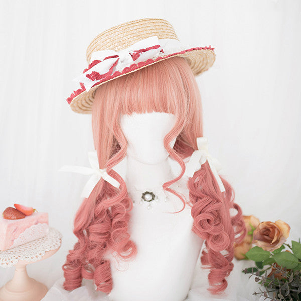 Lolita pink gradient long curly hair   DB5574