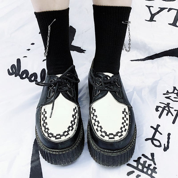 Black punk socks DB6934