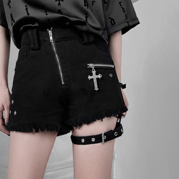 Black punk shorts DB3092