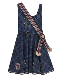 Blue Sling Plaid Skirt DB5469