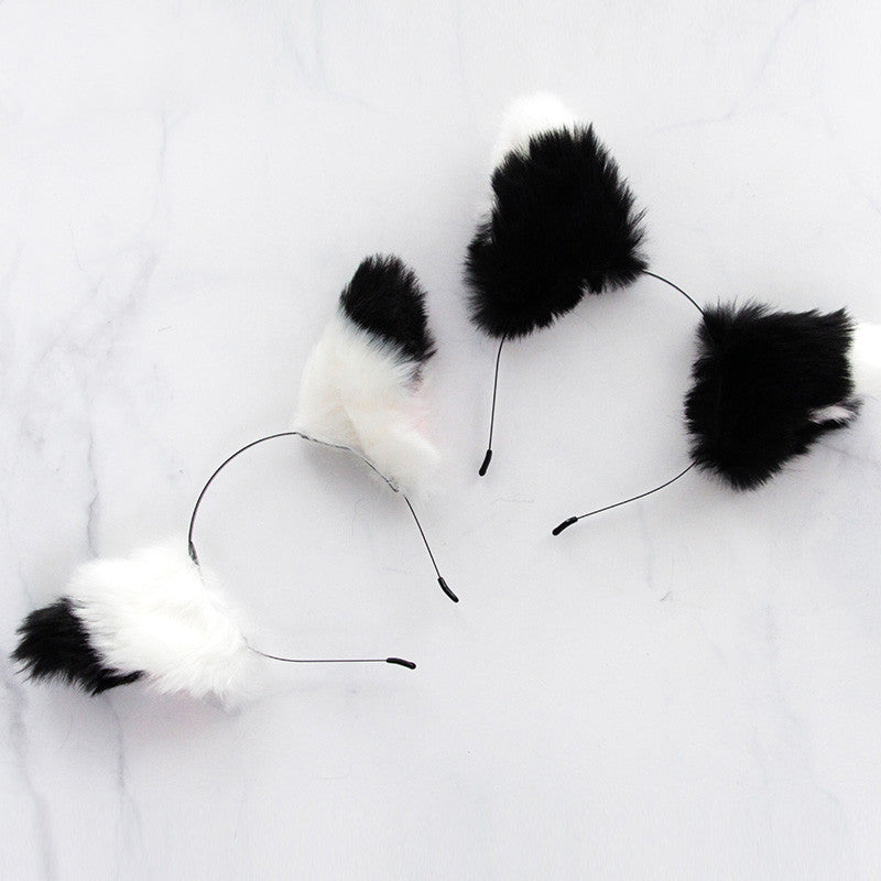Black and white fox headband DB4468