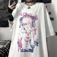Anime print short sleeve T-shirt DB5837