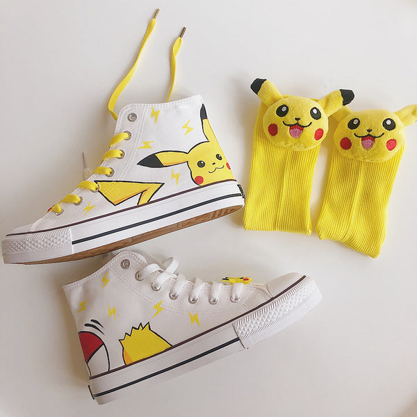 Pikachu anime hand-painted shoes DB5413