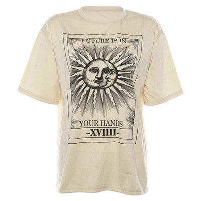 Punk Sun Print T-Shirt DB4311
