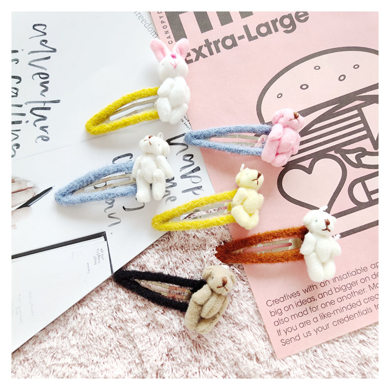 Plush doll hairpin DB4897