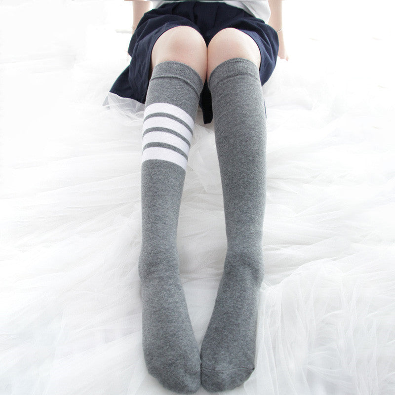 Striped sports calf socks DB4501