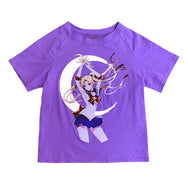 Sailor Moon reflective short-sleeved T-shirt DB5684