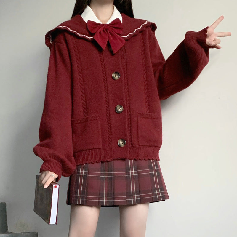 Red knitted jacket  DB6237