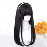 Long brown straight wig DB5451