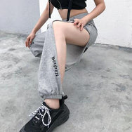 Punk hollow embroidery pants pants DB4281