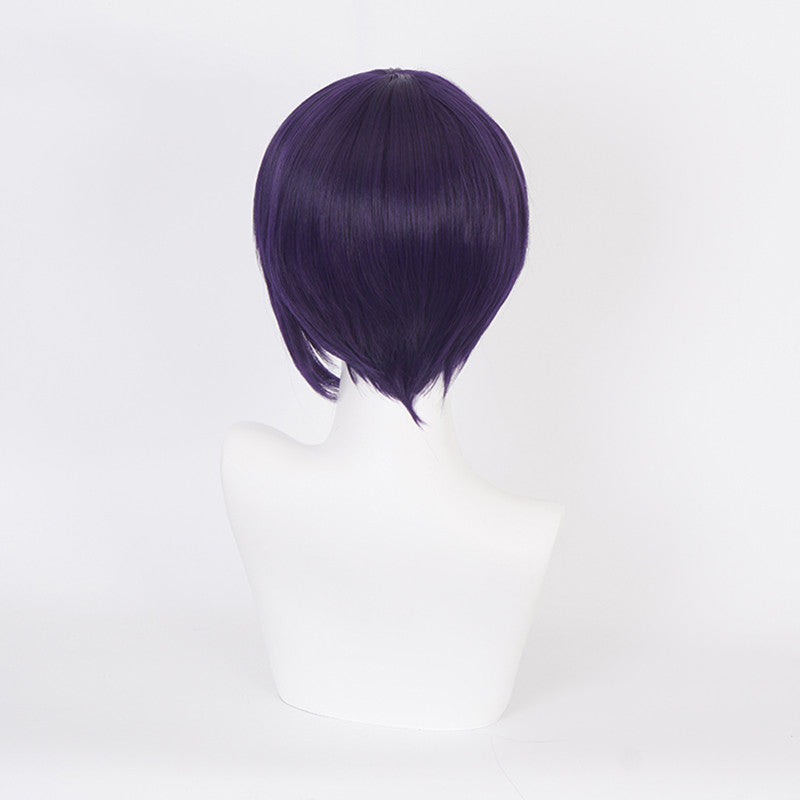 Jiro Kyoka cos blue and purple wig DB5433