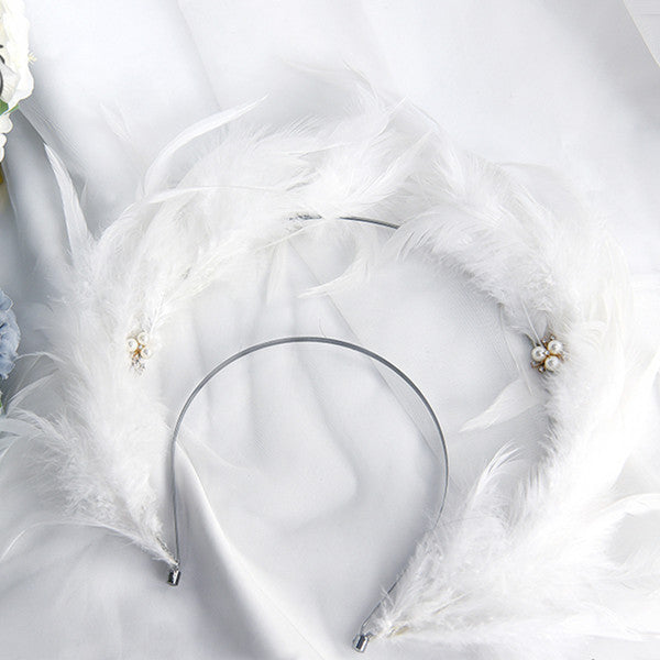 Lolita feather headband DB5521