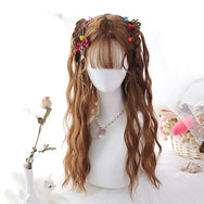 Lolita Brown Double Ponytail Long Curly Hair Wig DB5263