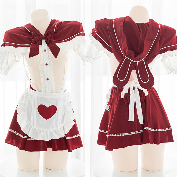Sexy cos hooded maid suit DB5844
