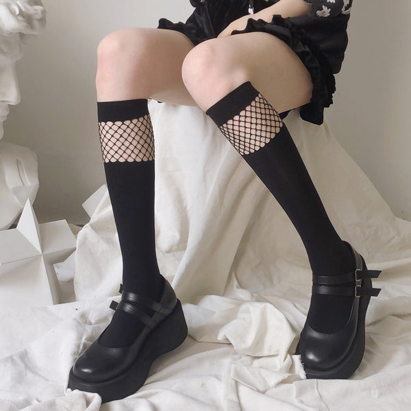 Black fishnet stockings 2 pairs  DB6156
