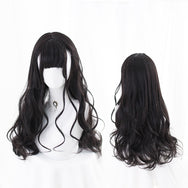 Harajuku chocolate long curly hair wig DB4878
