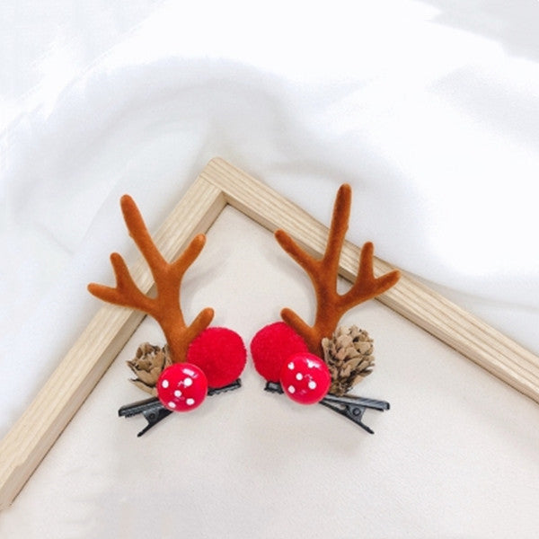 Christmas Moose Antler Hair Clip DB4974