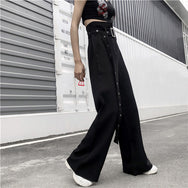 Punk wild wide-leg pants DB5000