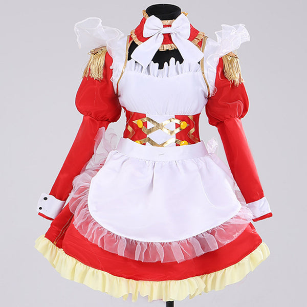 Nero cos red and white maid suit DB5463