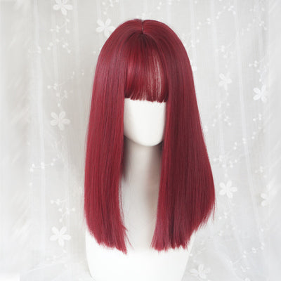 Wine red clavicle wig DB4074
