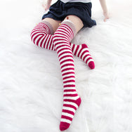 Sexy Christmas Elk Striped Painted Socks DB5038