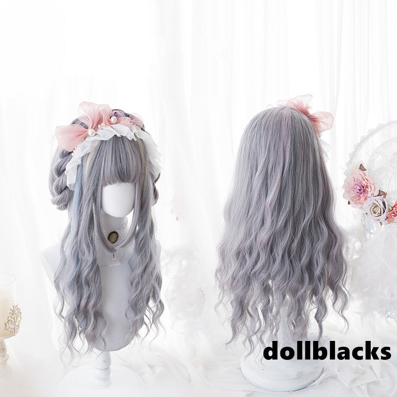 Lolita three-color highlights curly hair wig DB4788