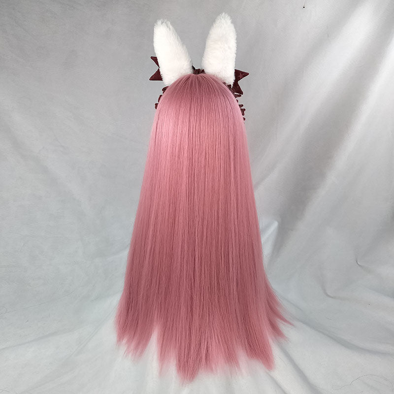 Harajuku Lolita Pink Long Straight Hair Wig DB5325