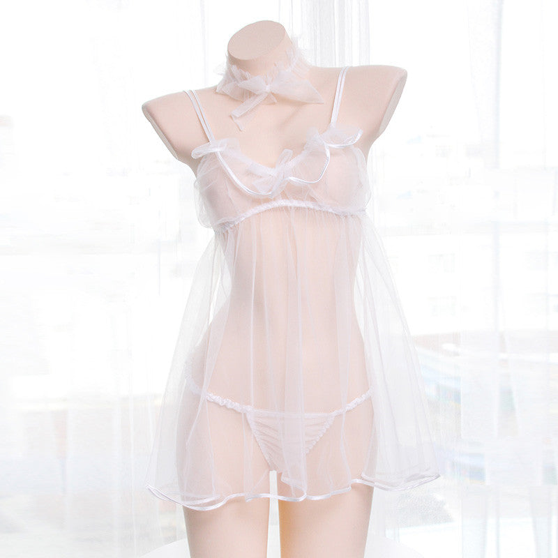 Tulle strap nightdress DB4441