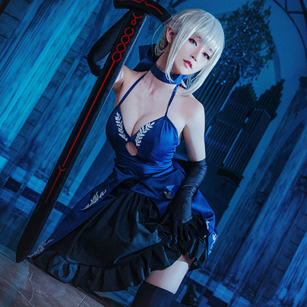 Arutoria Pendoragon cosplay gown suit DB5110