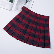 All-match check pleated skirt DB5398