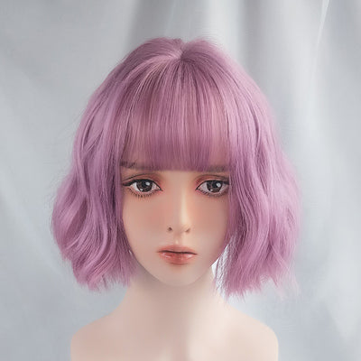 Pink purple short wig DB4099