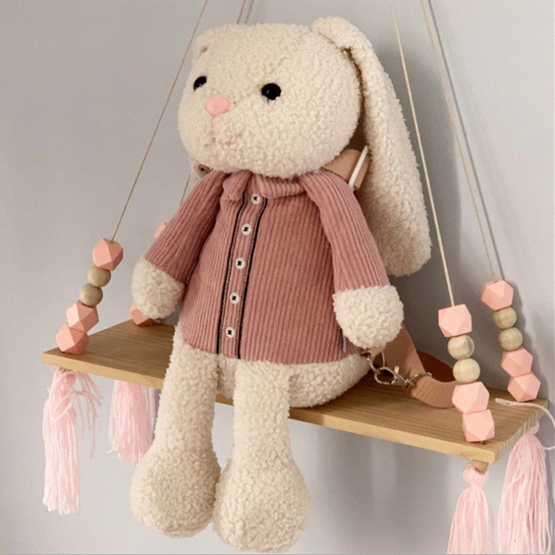 Cute Bunny and Bear Backpack DB6251