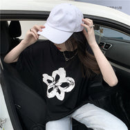 Flower print short-sleeved T-shirt DB5504