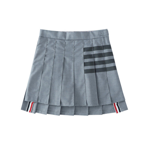 Wild gray irregular skirt DB5164