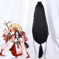 Onmyoji cos black highlighter red wig DB5629