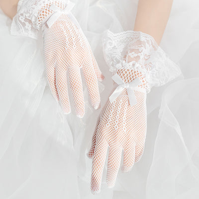Lace short gloves DB4796