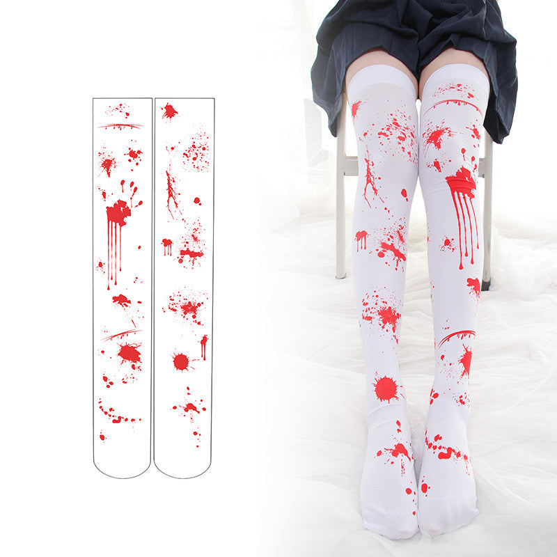Halloween blood printed paint socks DB4691