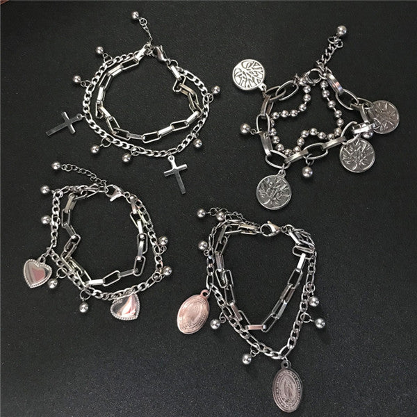 Couple punk pendant bracelet DB5003