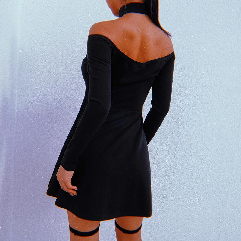 Punk black dress DB2039